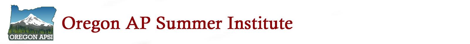 Oregon AP Summer Institute